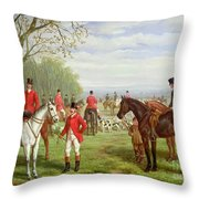 The Meet Throw Pillow by Edward Benjamin Herberte