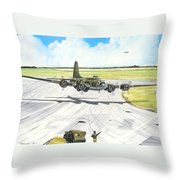 The Memphis Belle Throw Pillow by Marc Stewart