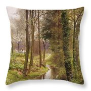 The Mill Stream Throw Pillow by Henry Sutton Palmer