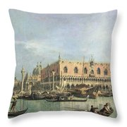 The Molo and the Piazzetta San Marco Throw Pillow by Canaletto