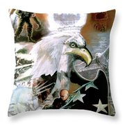 The New American Pride Throw Pillow by Todd Krasovetz