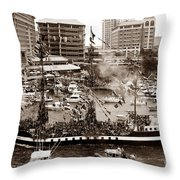 The Old Crew Of Gaspar Throw Pillow by David Lee Thompson