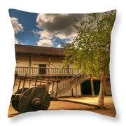 The Padre's Backyard Throw Pillow by Mick Burkey