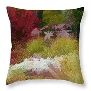 The Painted Garden Throw Pillow by Tom Prendergast