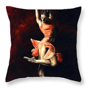 The Passion Of Dance Throw Pillow by Richard Young