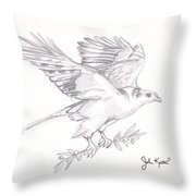 The Peace Offering Throw Pillow by John Keaton