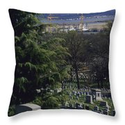 The Pentagon Looms Behind  Arlington Throw Pillow by Raymond Gehman