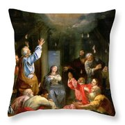 The Pentecost Throw Pillow by Louis Galloche