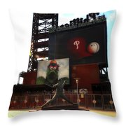 The Phillies - Steve Carlton Throw Pillow by Bill Cannon