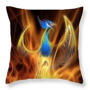 The Phoenix Rises From The Ashes Throw Pillow by John Edwards