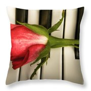 The Piano Gift Throw Pillow by Sophie De Roumanie