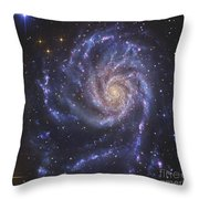 The Pinwheel Galaxy, Also Known As Ngc Throw Pillow by R Jay GaBany