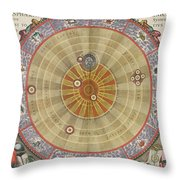 The Planisphere Of Copernicus Harmonia Throw Pillow by Science Source