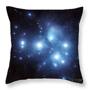 The Pleiades Star Cluster Throw Pillow by Charles Shahar