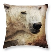 The Polar Bear Throw Pillow by Angela Doelling AD DESIGN Photo and PhotoArt