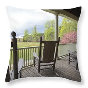 The Porch  Throw Pillow by Steve Gravano