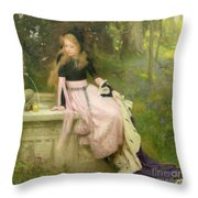 The Princess And The Frog Throw Pillow by William Robert Symonds