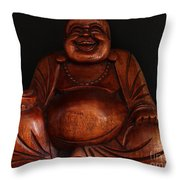 The Protector Of Wealth Throw Pillow by Nancy Harrison