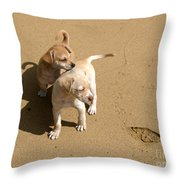 The Puppies Throw Pillow by Madeline Ellis