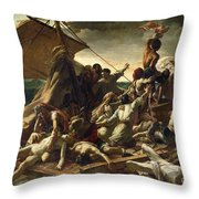 The Raft Of The Medusa Throw Pillow by Theodore Gericault
