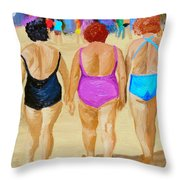 The Real South Beach Throw Pillow by Michael Lee