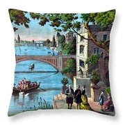 The Reception Of Benjamin Franklin In France Throw Pillow by War Is Hell Store