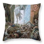 The Resurrection Throw Pillow by Tissot