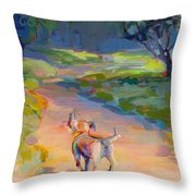 The Road Ahead Throw Pillow by Kimberly Santini