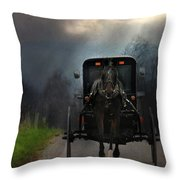 The Road Less Traveled Throw Pillow by Lori Deiter