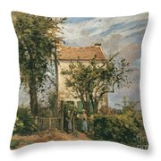 The Road To Rueil Throw Pillow by Camille Pissarro