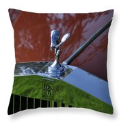 The Rolls Throw Pillow by Clayton Bruster