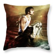 The Sacrifice Throw Pillow by Mary Hood