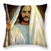 The Savior Throw Pillow by Greg Olsen