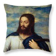 The Savior Throw Pillow by Titian