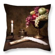 The Scribe Throw Pillow by Tom Mc Nemar