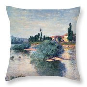 The Seine At Lavacourt Throw Pillow by Claude Monet