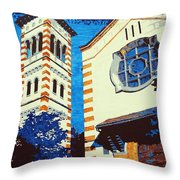 The Shrine Of The Miraculous Medal Throw Pillow by Sheri Parris