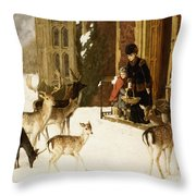 The Sisters Of Charity Throw Pillow by Charles Burton Barber