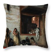 The Slave Market Throw Pillow by Jean Leon Gerome