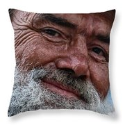 The Smile Of Life Throw Pillow by Erhan OZBIYIK