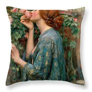 The Soul Of The Rose Throw Pillow by John William Waterhouse