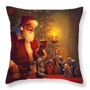 The Spirit of Christmas Throw Pillow by Greg Olsen