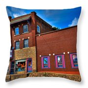 The Strand Theatre - Old Forge New York Throw Pillow by David Patterson