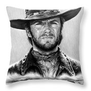 The Stranger Bw 1 Version Throw Pillow by Andrew Read