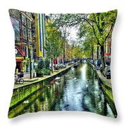 The Street Throw Pillow by Svetlana Sewell