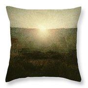The Sun Throw Pillow by Giuseppe Pellizza da Volpedo