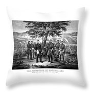 The Surrender Of General Lee  Throw Pillow by War Is Hell Store