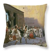 The Sword Dance Throw Pillow by Jean Leon Gerome