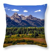 The Tetons II Throw Pillow by Robert Bales