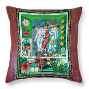 The Three Sisters Throw Pillow by Genevieve Esson